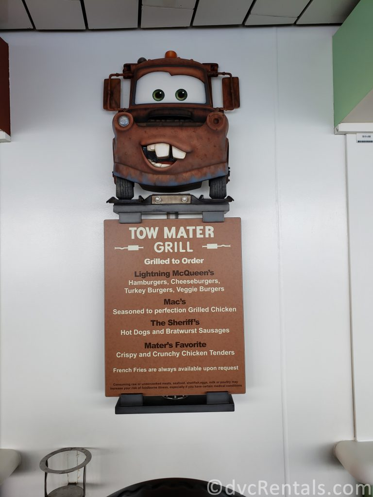 sign for Tow Mater's Grill