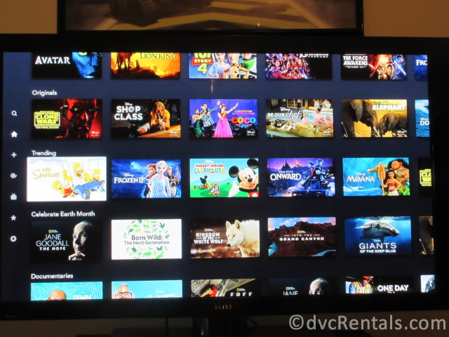 Disney+ show options