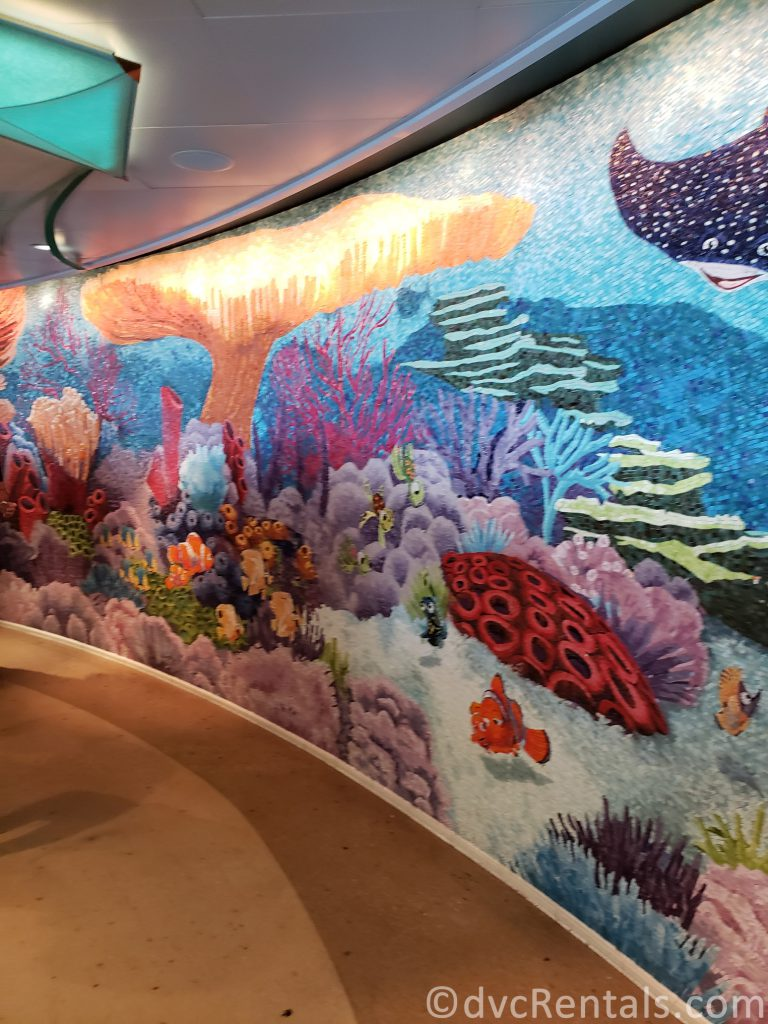 Finding Nemo tile mosaic aboard the Disney Dream