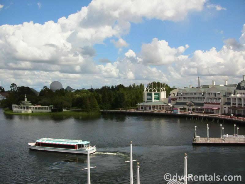 Friendship boat at Disney's Boardwalk Villas