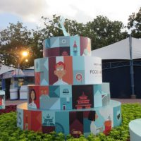 A Taste of Epcot Food & Wine Festival decoration