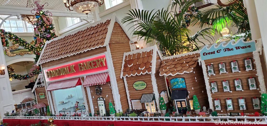 Gingerbread replica of Disney's Boardwalk