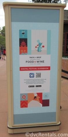 A Taste of Epcot Food & Wine menu