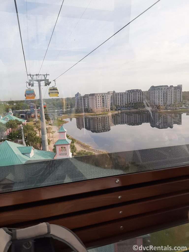 picture of Disney's Riviera Resort as seen from the Disney Skyliner