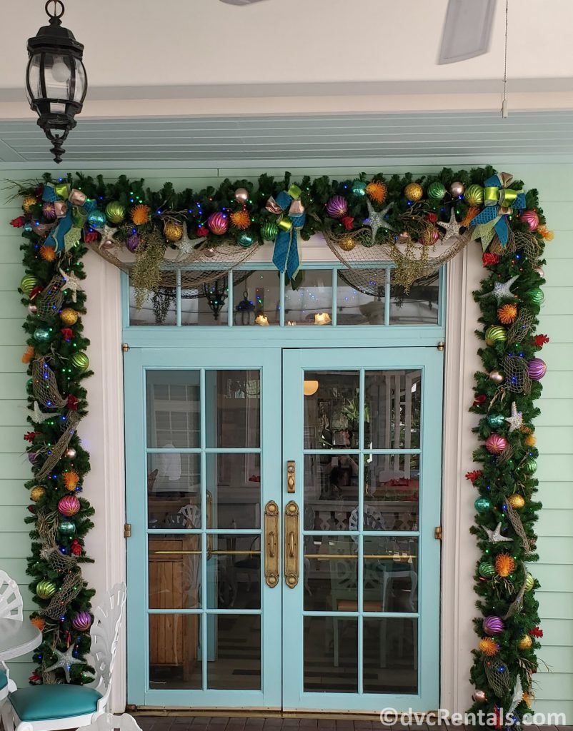 Christmas decorations at Disney's Old Key West