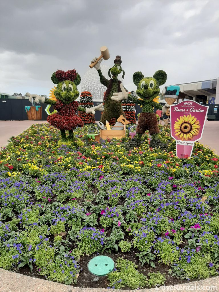 Mickey and Minnie topiaries from the Epcot international Flower and Garden festival