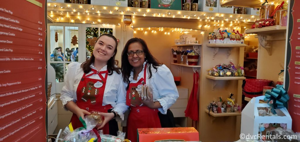 Cast Members selling snacks out of the Gingerbread house at Disney's Grand Floridian