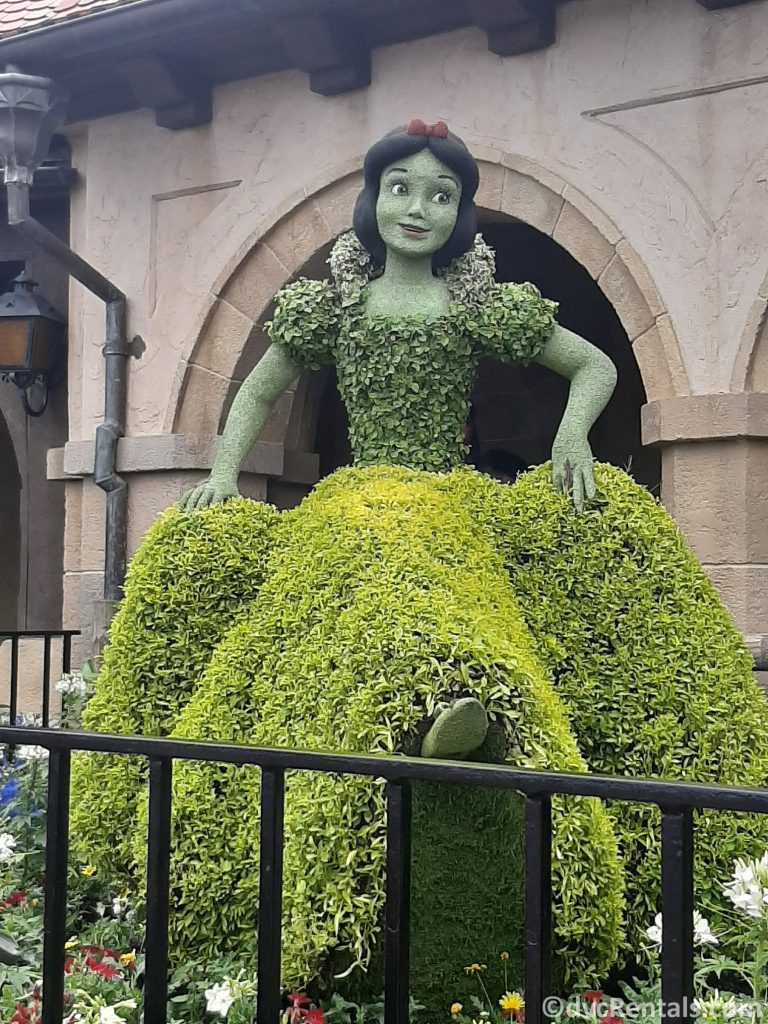 Snow White topiary from the Epcot international Flower and Garden festival