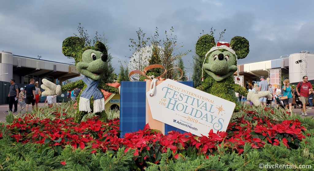 Epcot Festival of the Holidays Sign