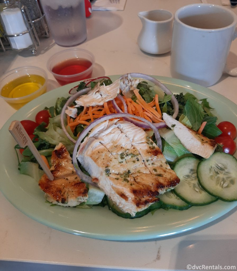 Picture of salad from Beaches & Cream Soda Shop
