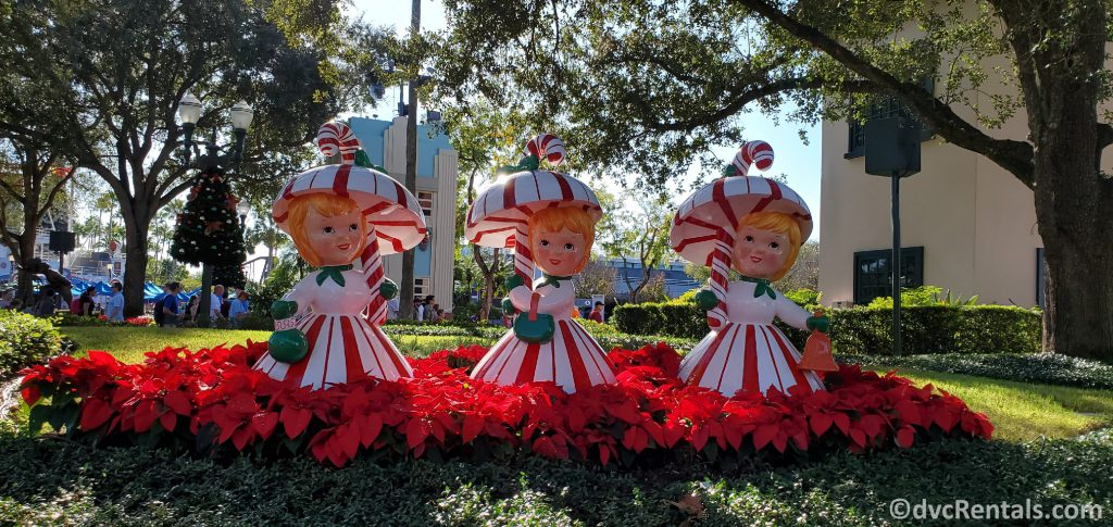 Christmas decorations at Disney's Hollywood Studios