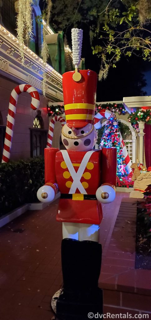 Toy Soldier decorations at Disney's Magic Kingdom