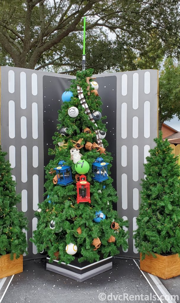 Star Wars themed tree at the Christmas Tree Trail