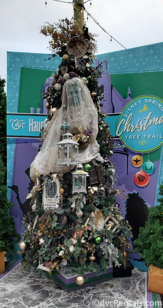 Haunted Mansion themed tree at the Christmas Tree Trail