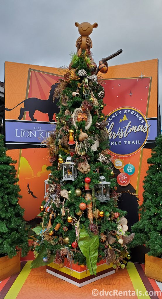 Lion King themed tree at the Christmas Tree Trail