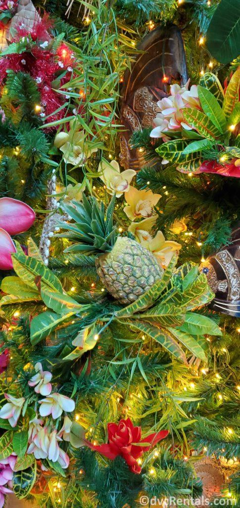 close up of a Christmas tree at Disney's Polynesian Villas & Bungalows