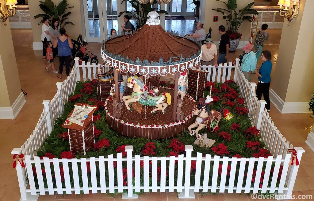 Gingerbread Carousel at Disney's Beach Club Villas