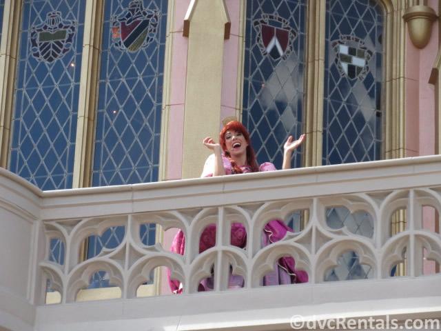 Cinderella's step-sister Anastasia at the Magic Kingdom