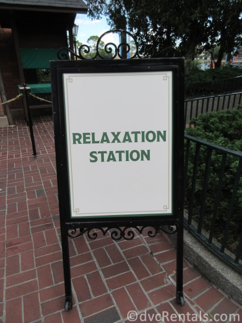 Relaxation Zone sign at Walt Disney World