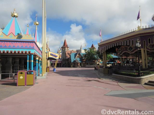 Fantasyland pathway being empty