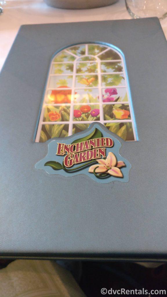 Cover of the Enchanted Garden Menu