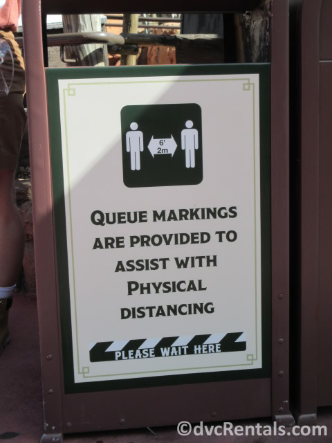 Social Distancing signs at WDW