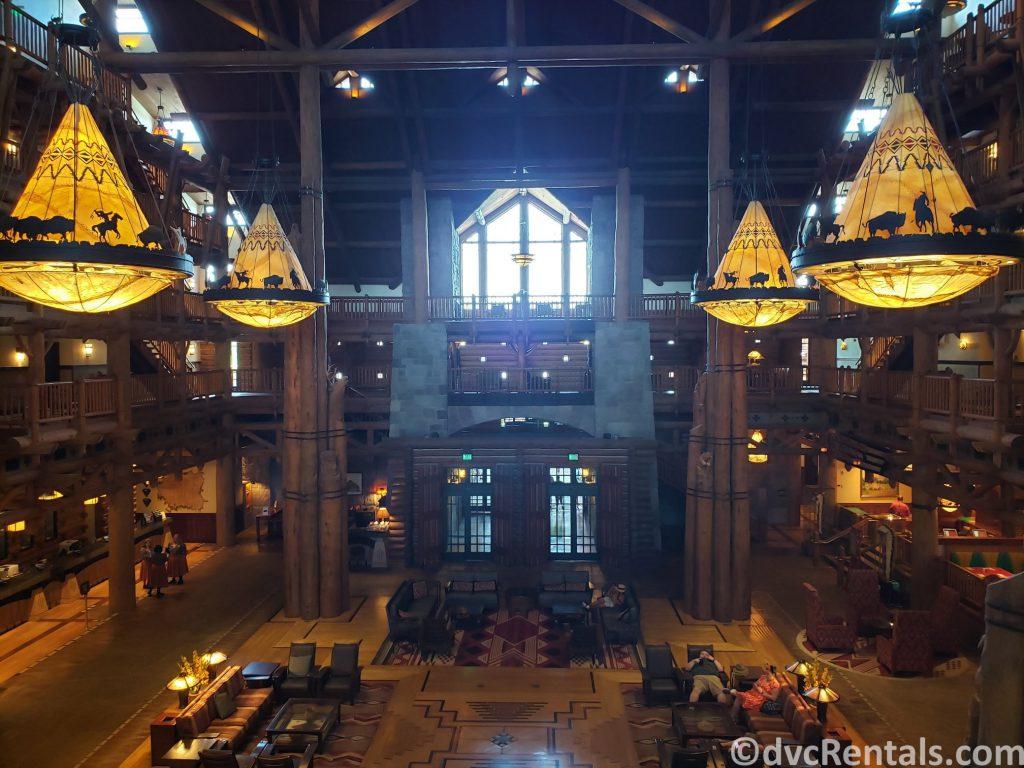 lobby of Copper Creek Villas & Cabins at Disney's Wilderness Lodge