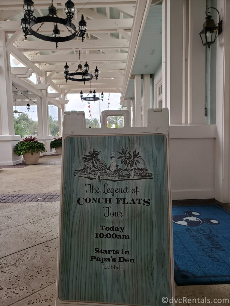 Sign for the Old Key West Resort Tour