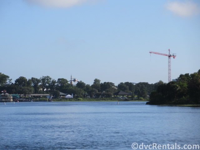 view of the Magic Kingdom from the ferry