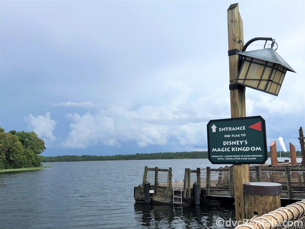 boat dock at Copper Creek Villas & Cabins at Disney's Wilderness Lodge