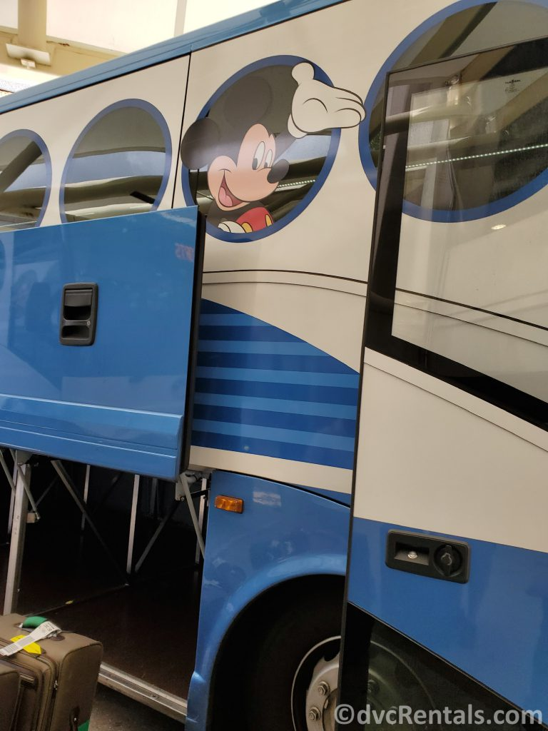 Luggage area on the Disney's Magical Express