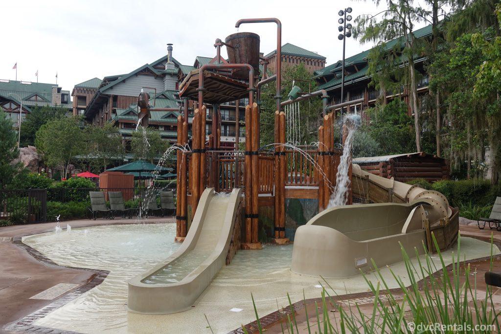 Splashpad at Disney's Copper Creek Villas at Disney's Wilderness Lodge