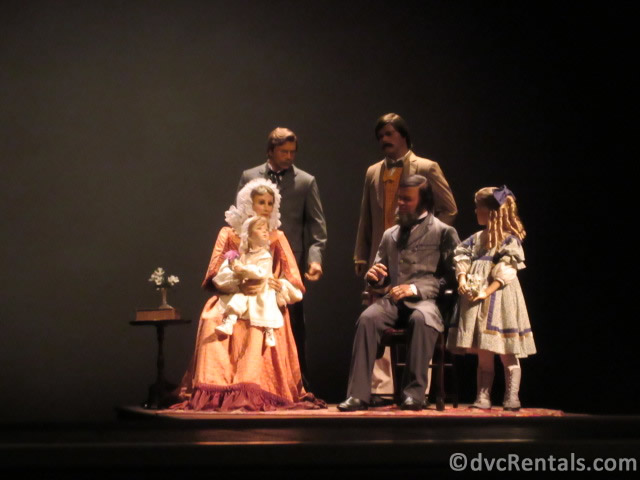 various scenes from the American Adventure