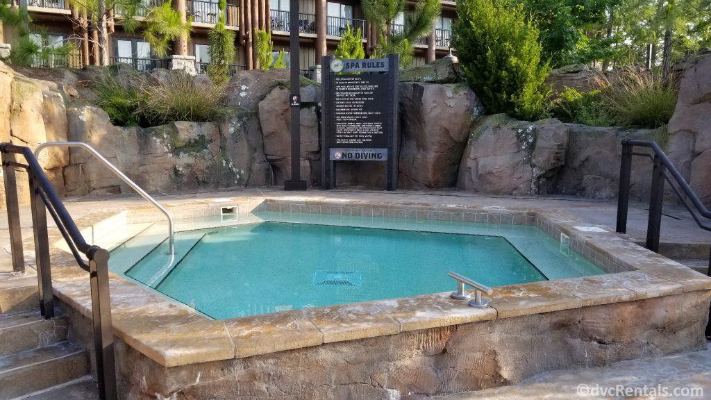 whirlpool spa at Boulder Ridge Villas at Disney's Wilderness Lodge