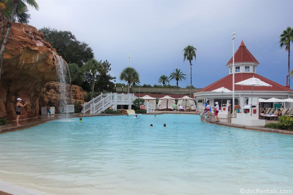 Poolside cabanas at the Villas at Disney's Grand Floridian