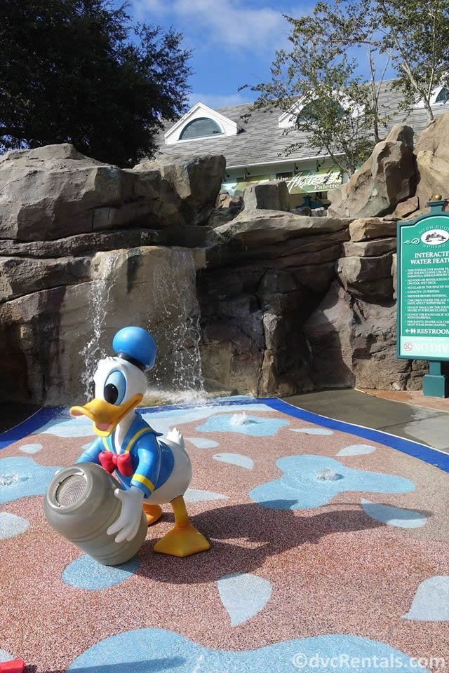 waterplay area at the Paddock Pool at Disney's Saratoga Springs Resort & Spa