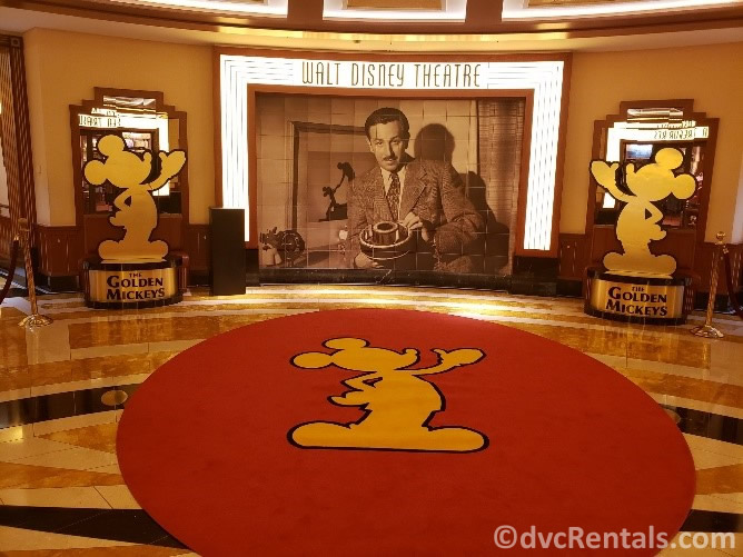 Entrance to the Walt Disney Theatre on the Disney Dream