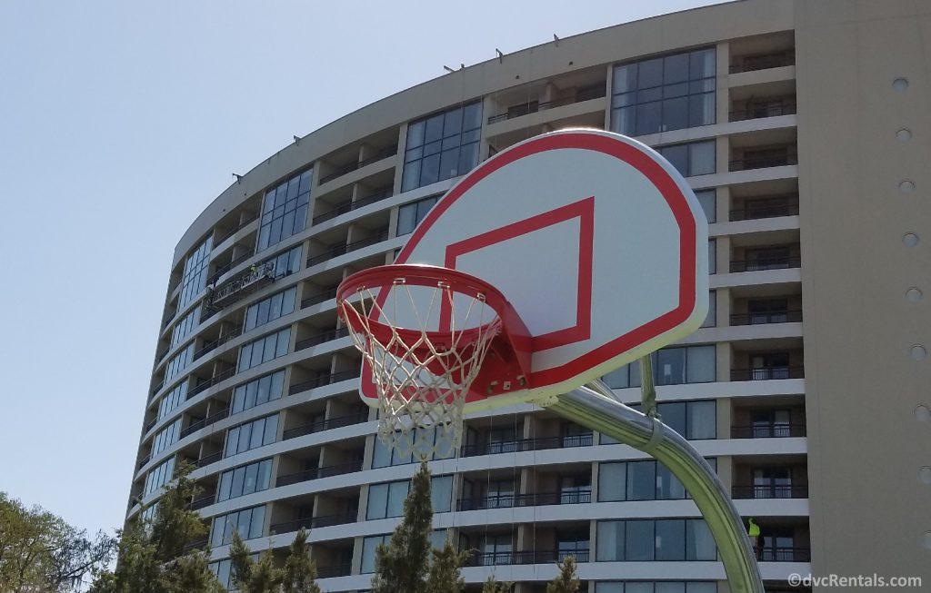 Basketball nets at Disney's Bay Lake Tower