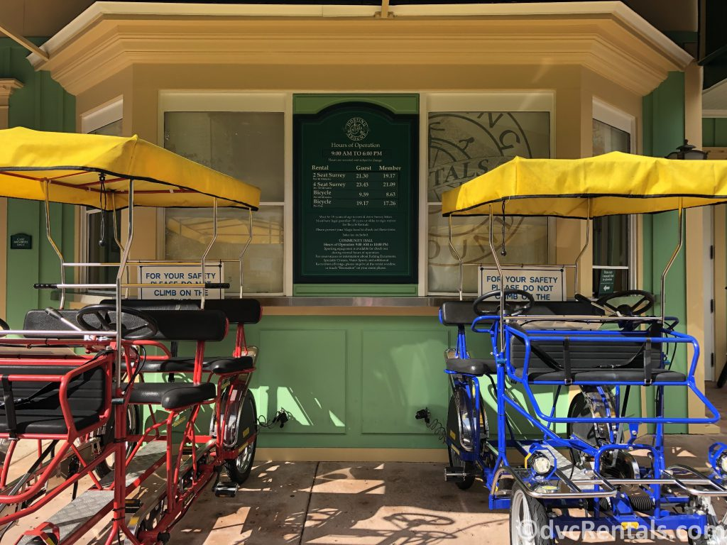 bike rentals at Disney's Saratoga Springs Resort & Spa