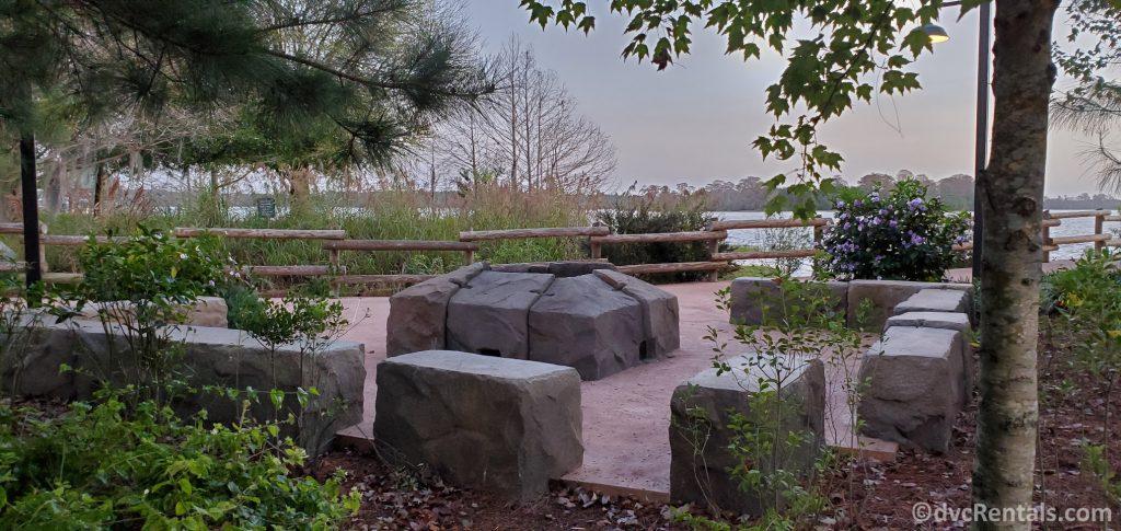 Firepit at Boulder Ridge Villas at Disney's Wilderness Lodge