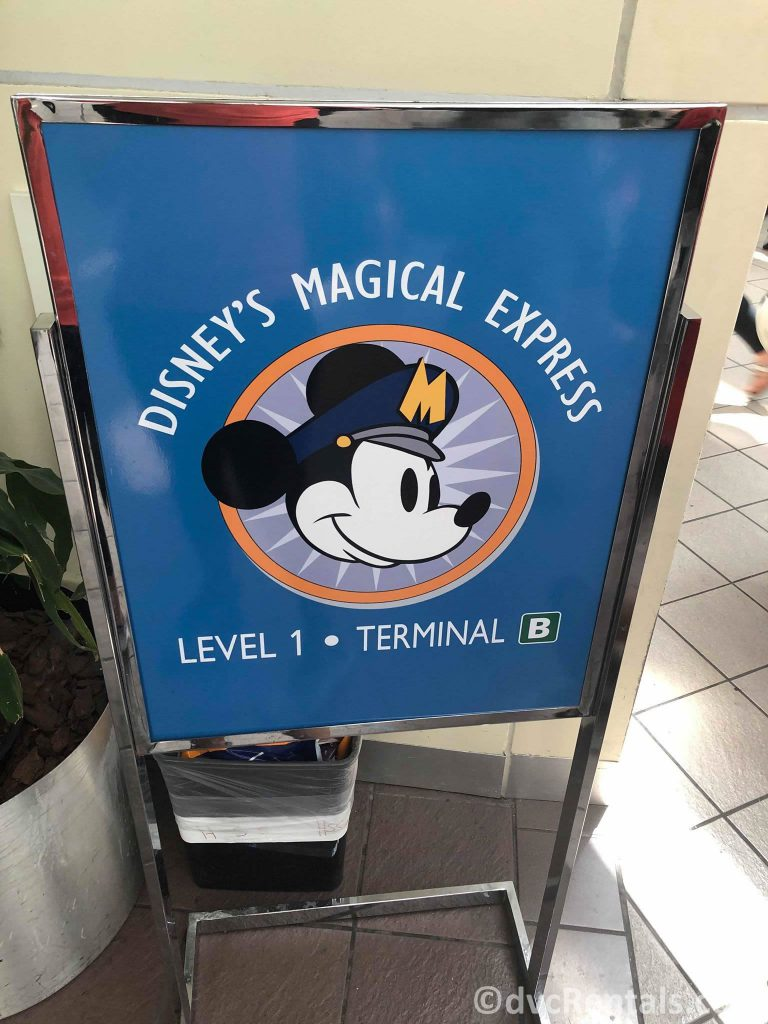 Signs for Disney's Magical Express