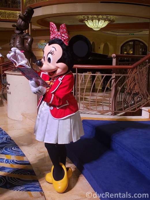 Minnie Mouse on the Disney Dream