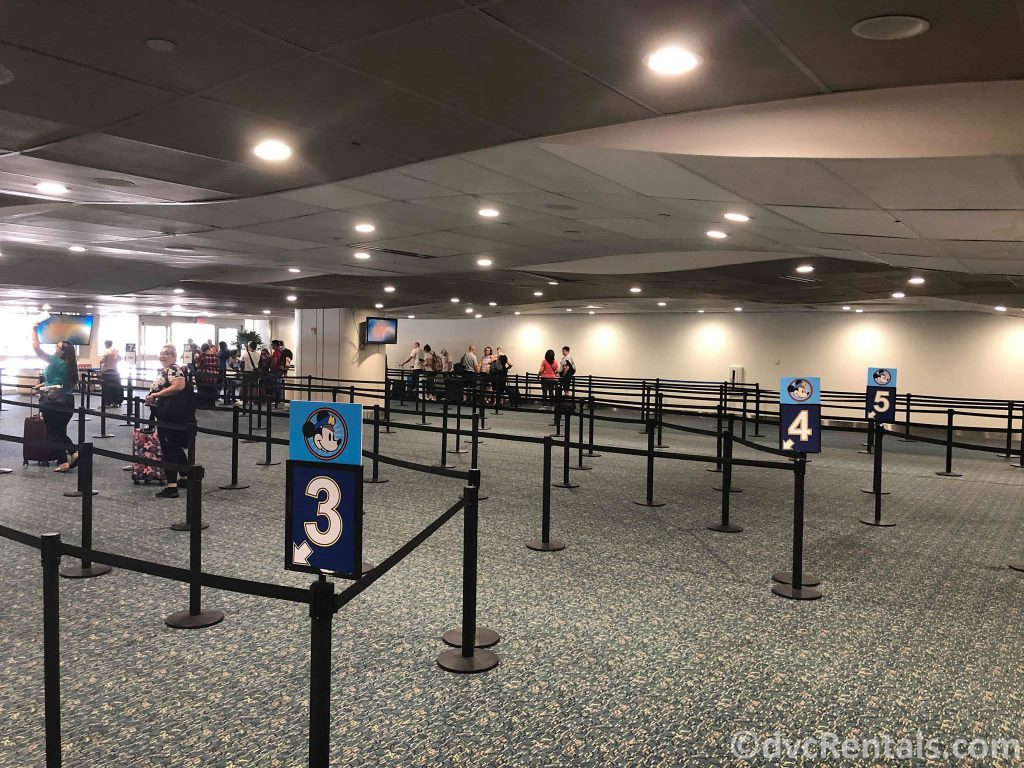 Line up for Disney's Magical Express