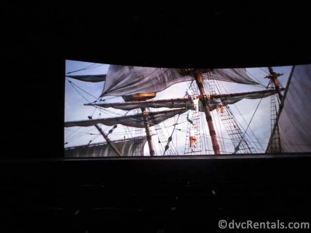 Mayflower scene from the American Adventure at Epcot