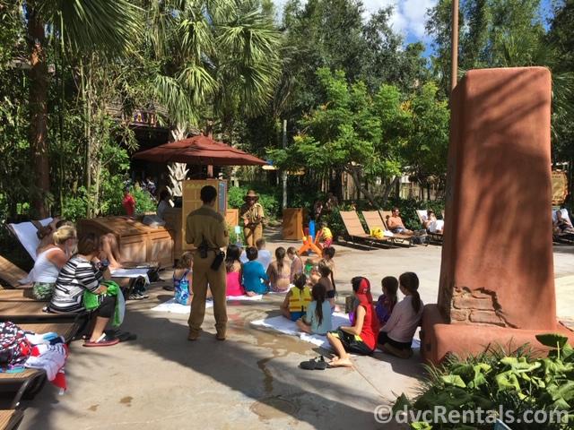 Poolside activities at Disney's Animal Kingdom Villas