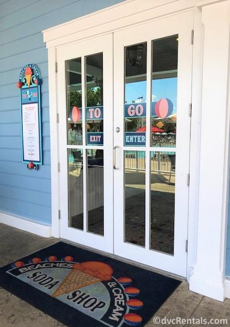 Entrance to the To Go areas of Beaches & Cream Soda Shop