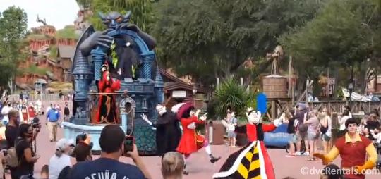 Halloween Themed Character Cavalcades at the Magic Kingdom
