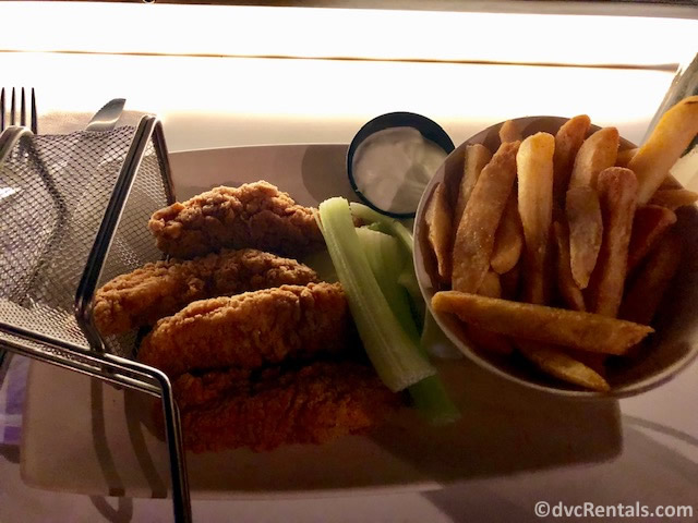 Chicken Fingers and fries from the Sci-Fi Dine-In Theater