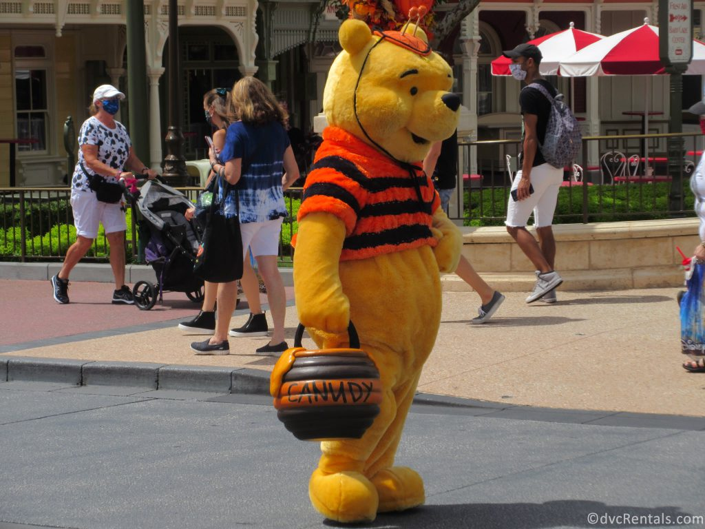 Winnie the Pooh in a Halloween Themed Character Cavalcades at the Magic Kingdom