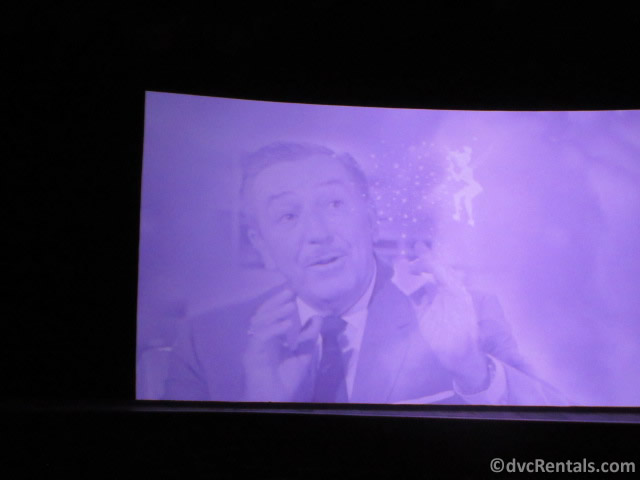 Video featuring Walt Disney used in the American Adventure at Epcot